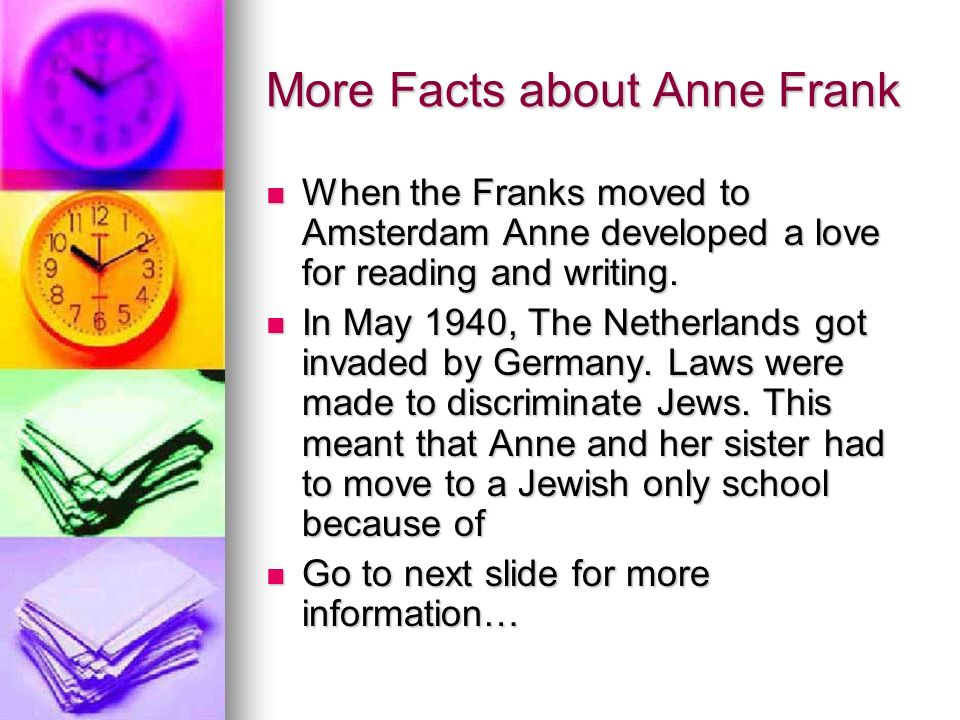 Anne Frank By ILoveReading ppt download