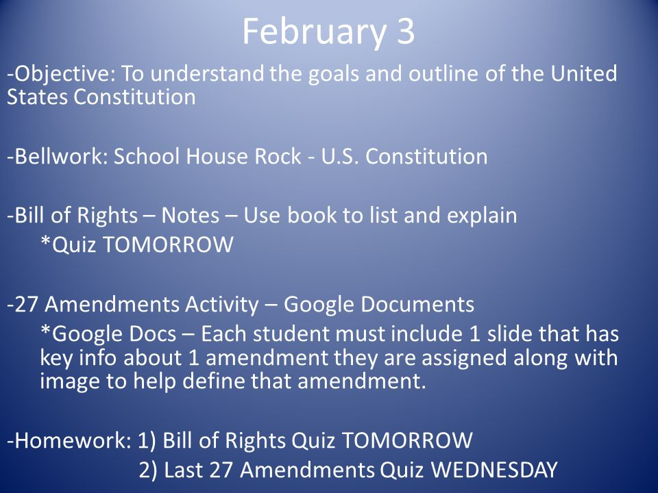 an overview of the united states constitution list The united states constitution is one of the most important documents in history in this lesson, we will summarize its components, including the.