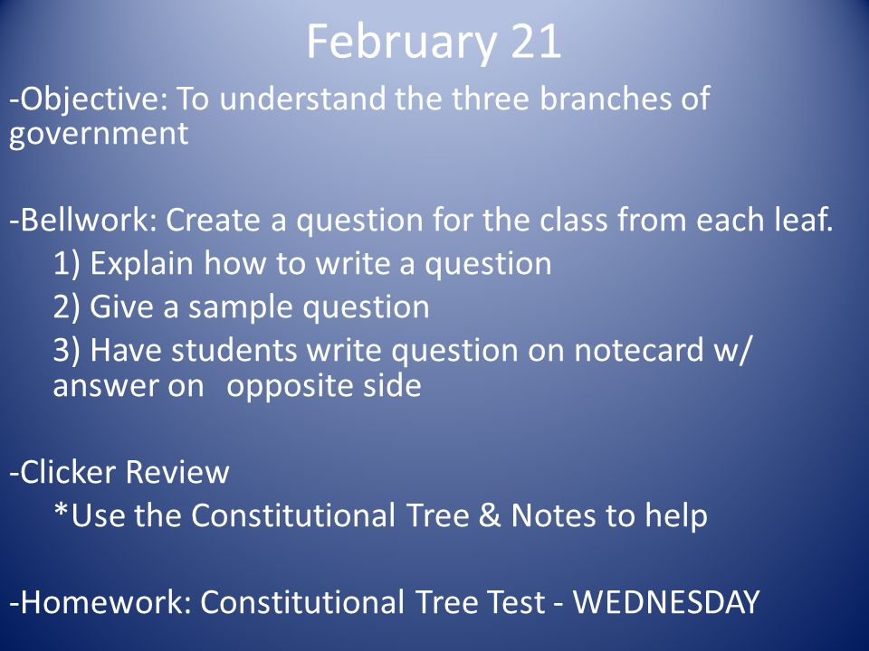 The Three Branches of Government: Executive, Legislative and Judicial