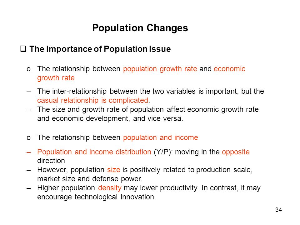 relationship between population growth and technological change