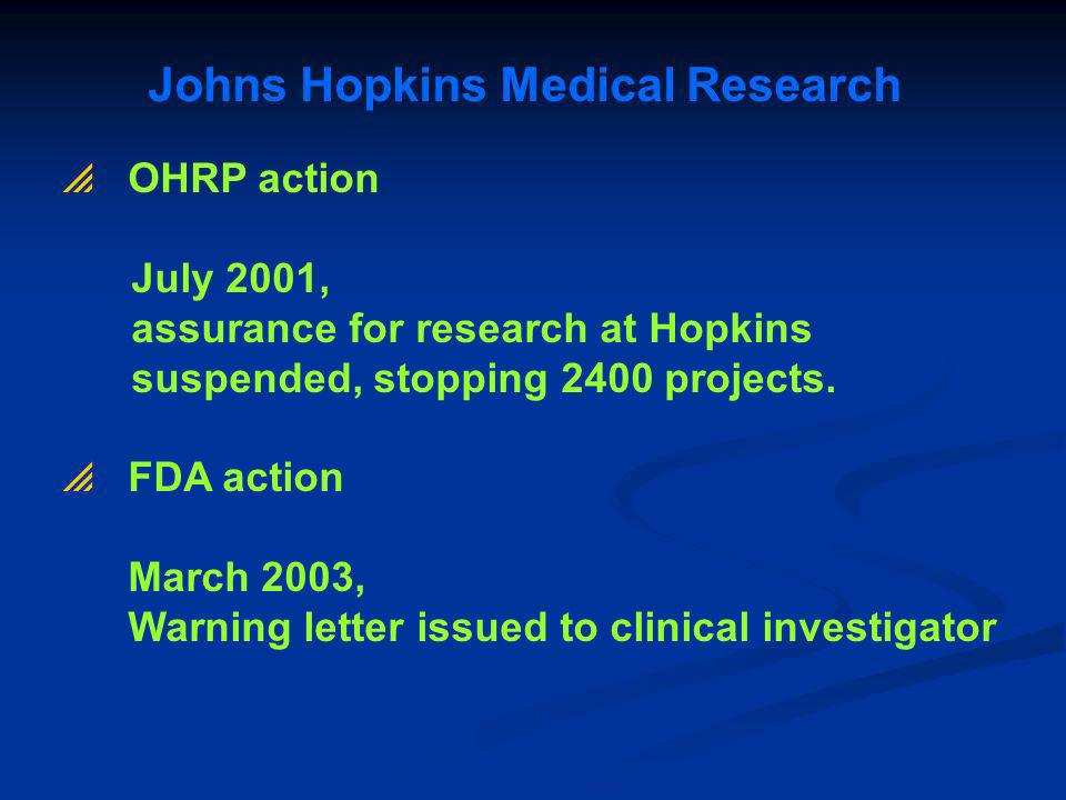 Johns Hopkins Medical Research