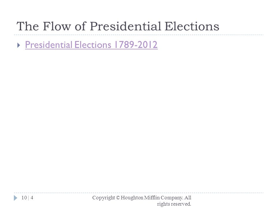 The Flow of Presidential Elections