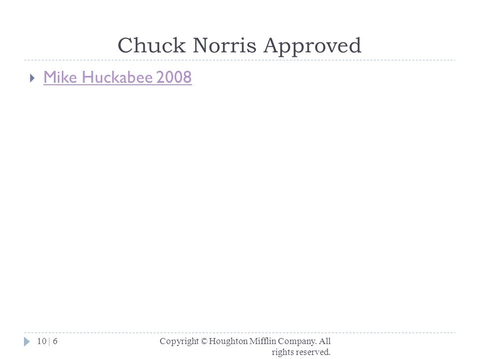 Chuck Norris Approved Mike Huckabee 2008