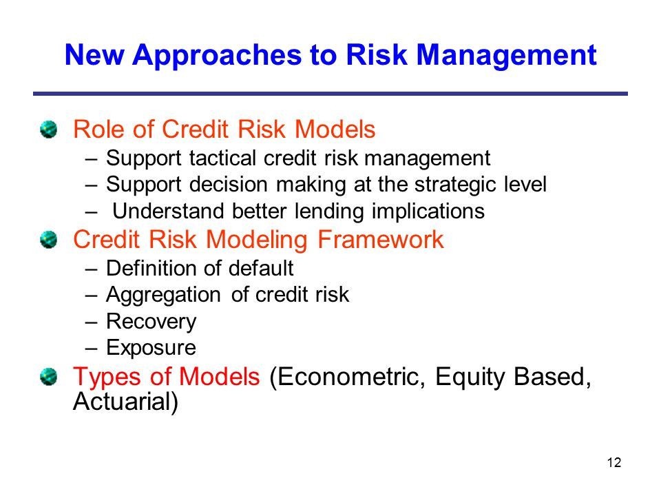 the role of credit management in banks The role of finance in the economy: implications for structural of credit further, banks and their affiliates are at the core of the risk management services.