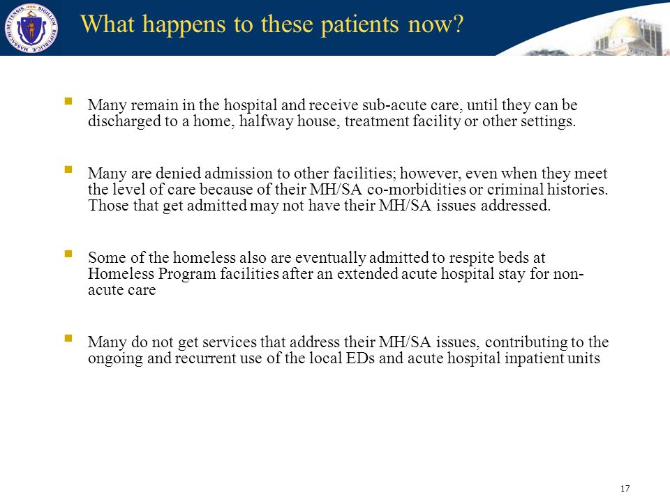 What happens to these patients now