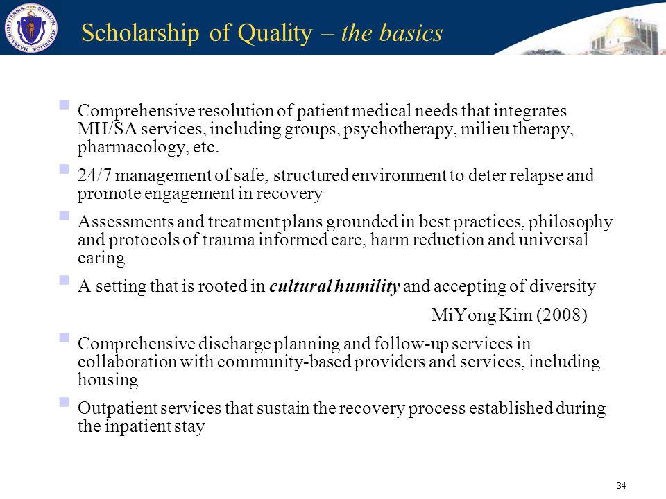 Scholarship of Quality – the basics