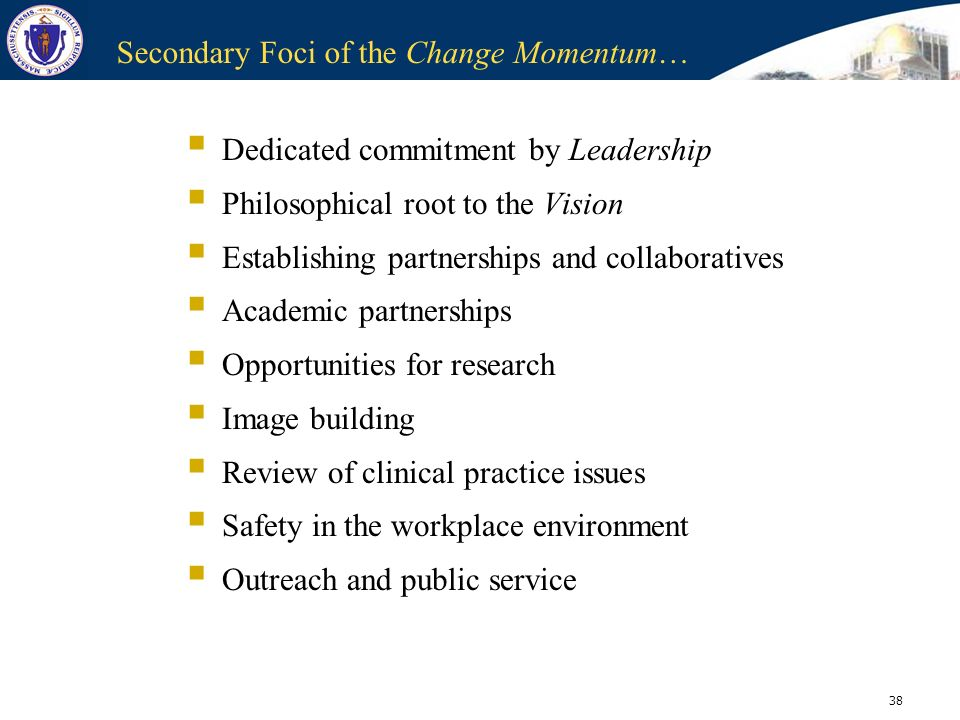 Secondary Foci of the Change Momentum…