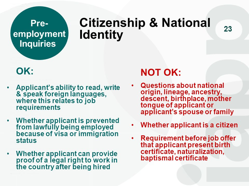 Citizenship & National Identity