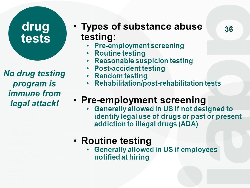 No drug testing program is immune from legal attack!