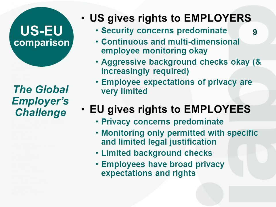 The Global Employer's Challenge