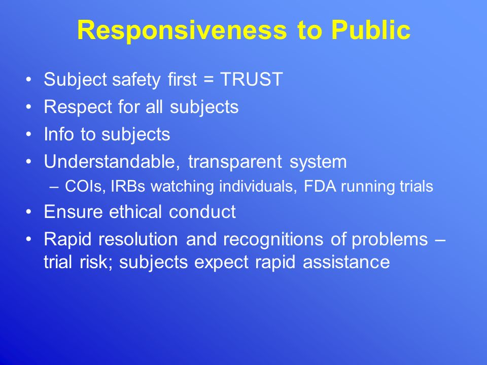 Responsiveness to Public