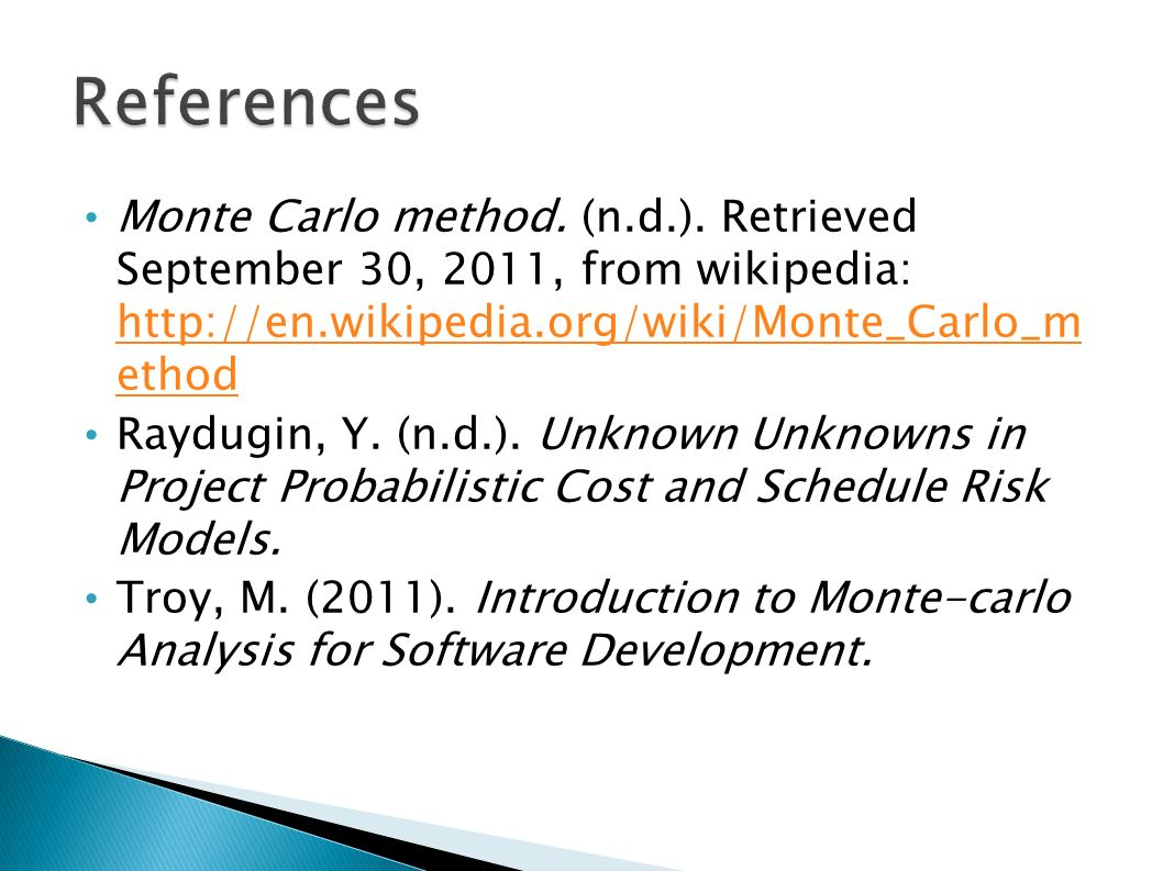 an introduction to monte carlo method of option evaluation Practical monte carlo method to state some partial convergence results for pricing american options they applied least-squares regressions in which the explanatory variables are certain polynomial functions and estimated the continuation values of a number of derivatives they used only inthe regressions to -the-money path in.