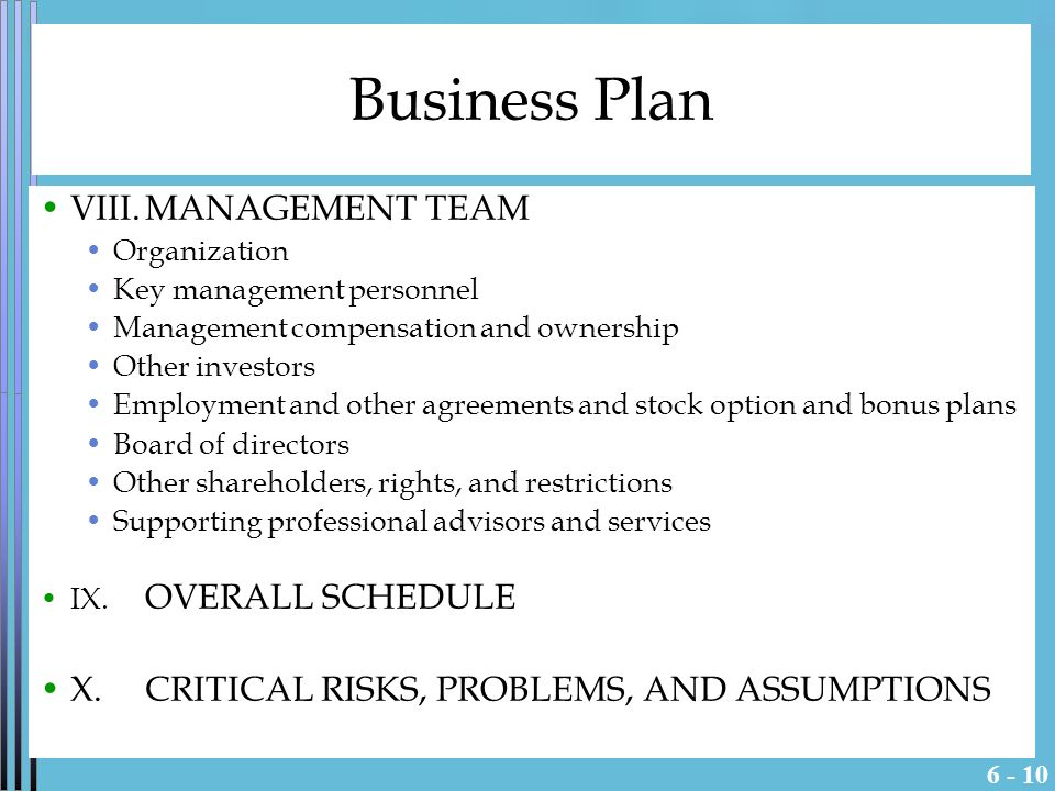 management legal rights online business plan