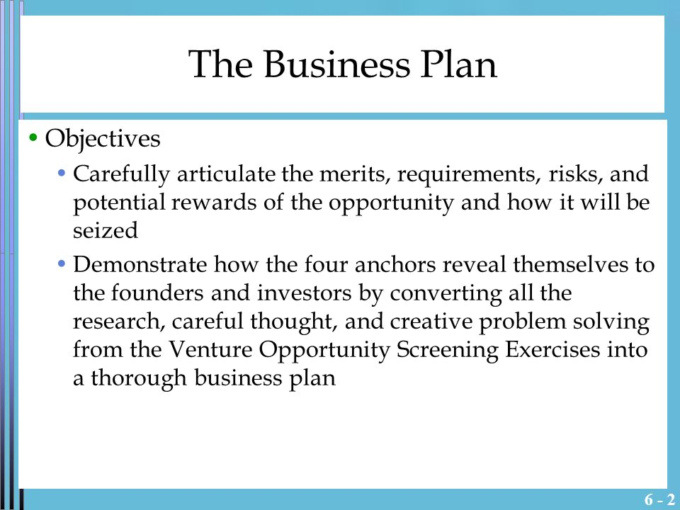 Business plan for potential investors
