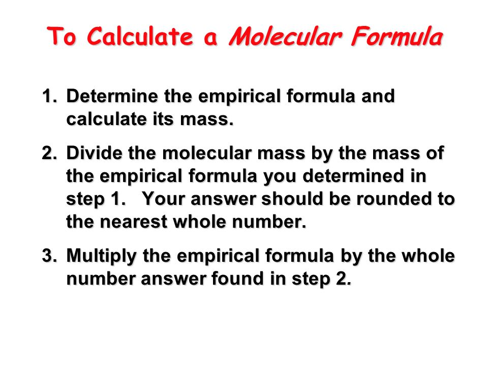 Empirical & Molecular Formulas - ppt download