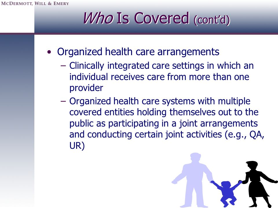 Who Is Covered (cont'd)