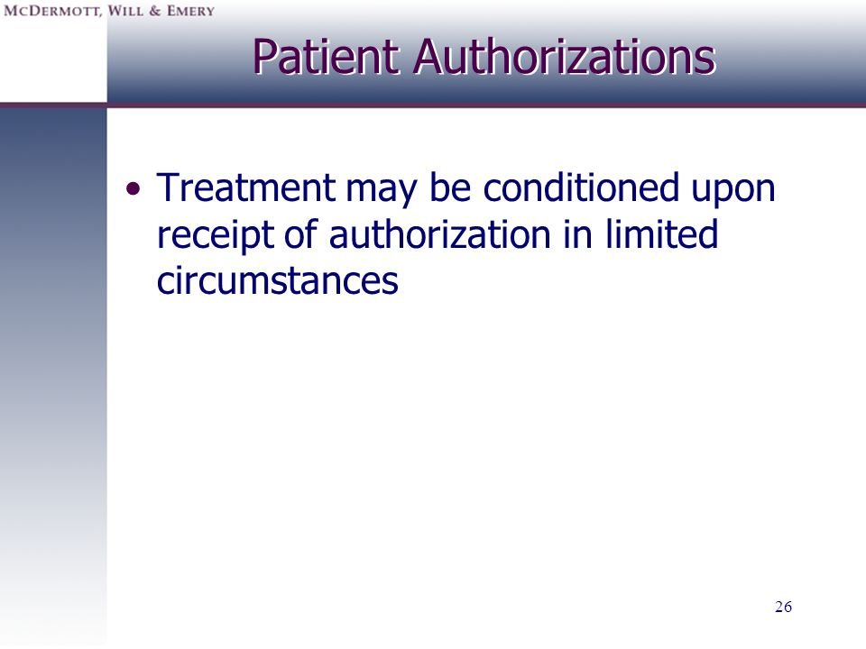 Patient Authorizations