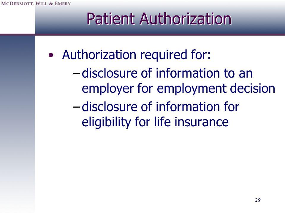 Patient Authorization