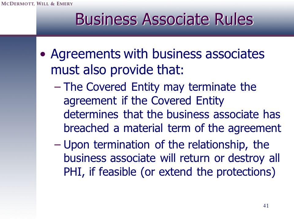 Business Associate Rules