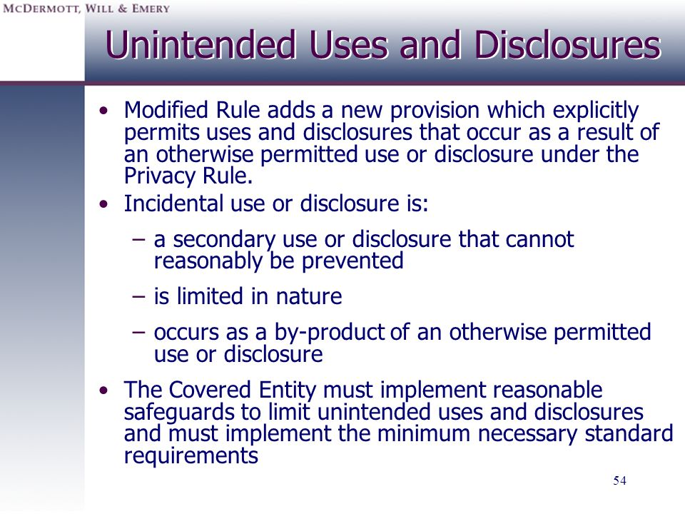 Unintended Uses and Disclosures