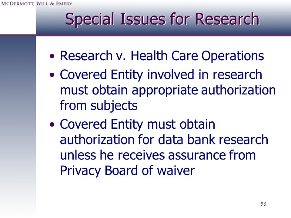 Special Issues for Research