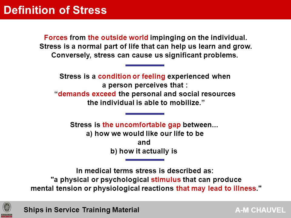 stress as a part of our life The body reacts to these changes with physical, mental, and emotional  responses stress is a normal part of life you can experience stress from your.