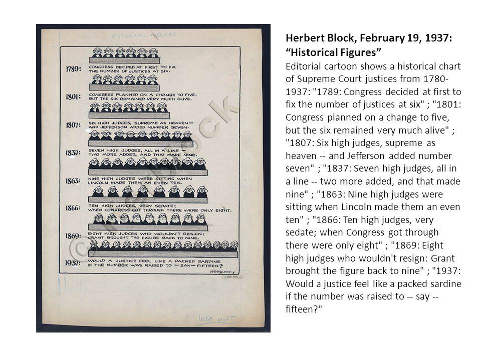 Herbert Block, February 19, 1937: Historical Figures