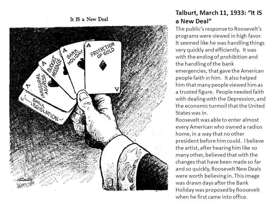 Talburt, March 11, 1933: It IS a New Deal