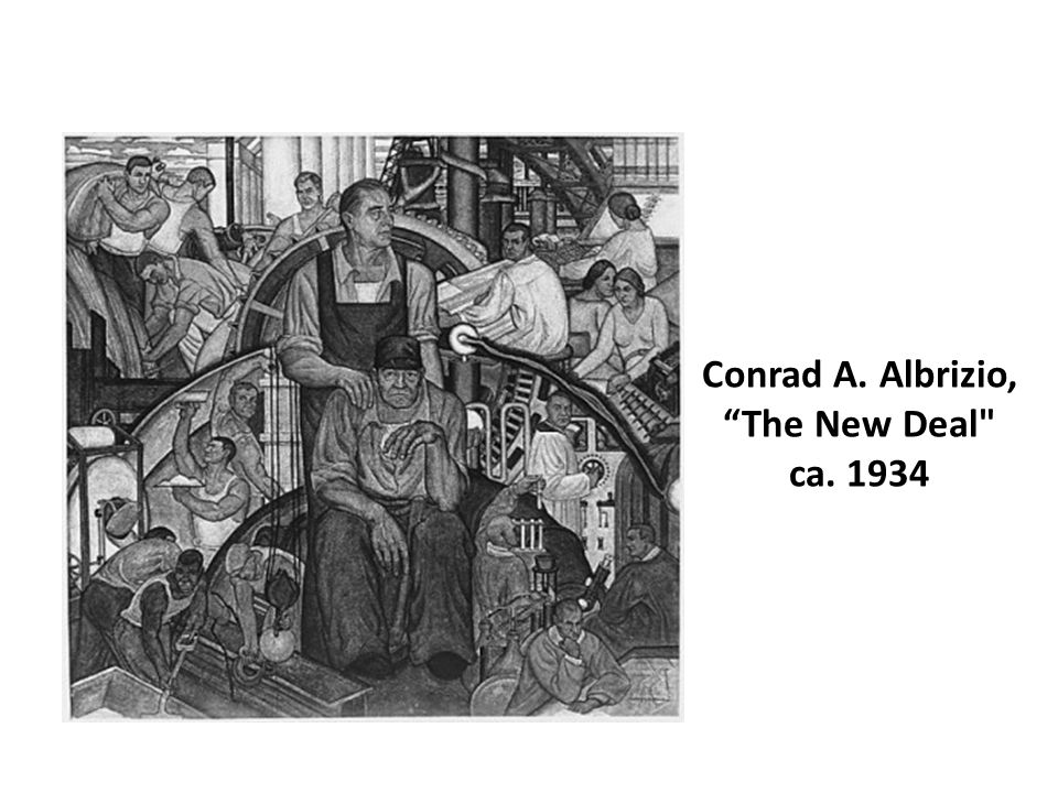 Conrad A. Albrizio, The New Deal