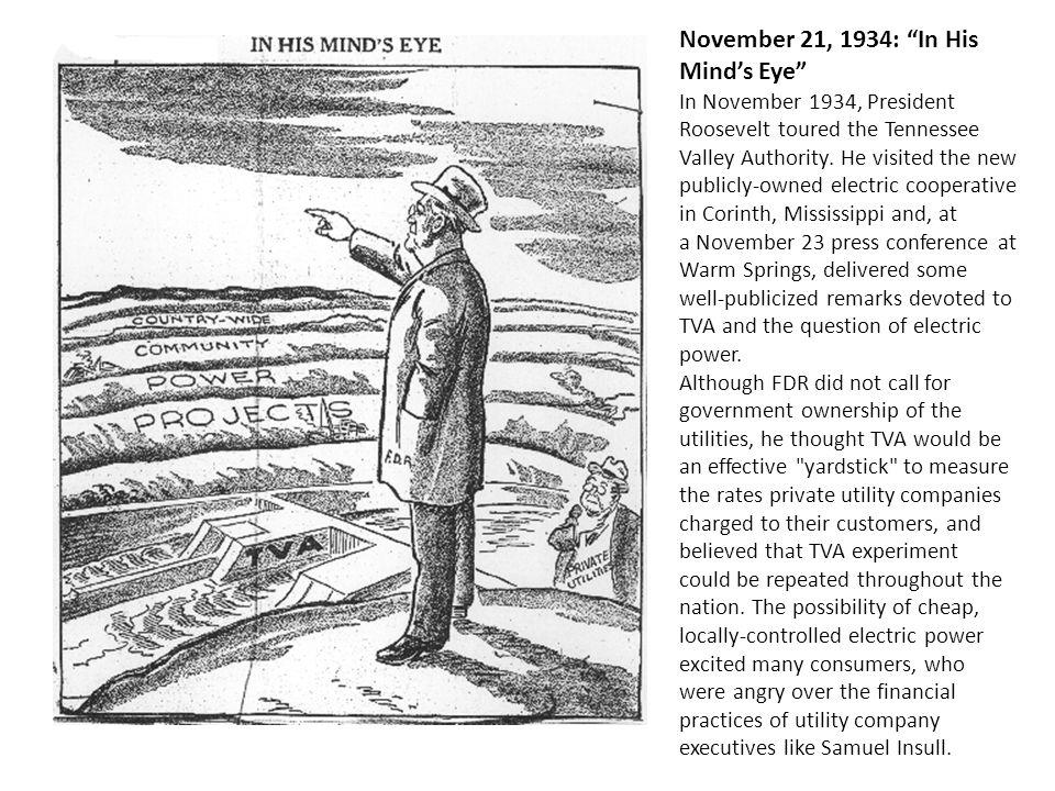 November 21, 1934: In His Mind's Eye