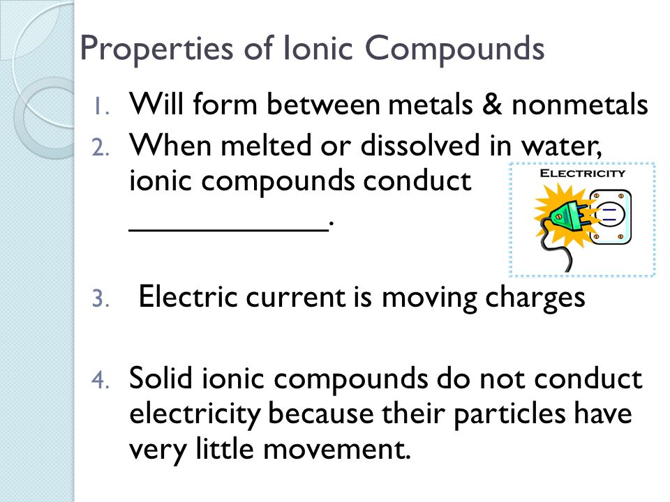chemistry properties of ionic compounds