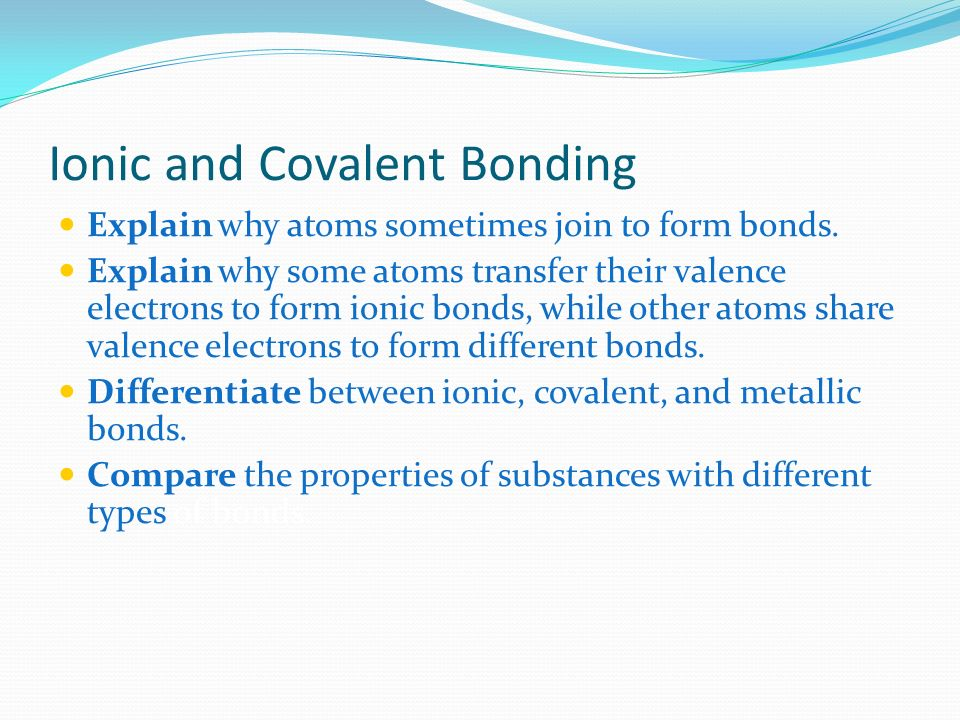 relationship between valence electrons and bonding