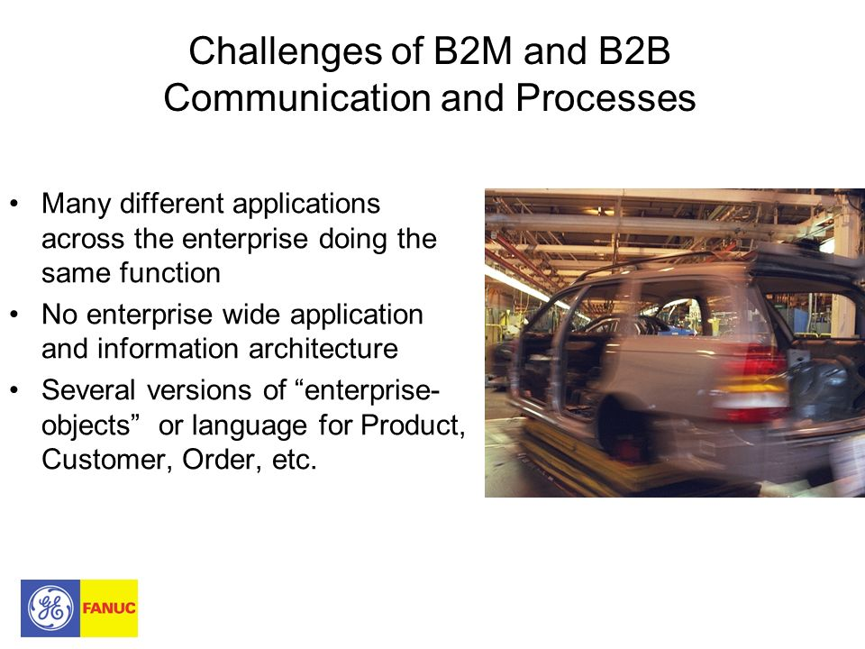 Challenges of B2M and B2B Communication and Processes