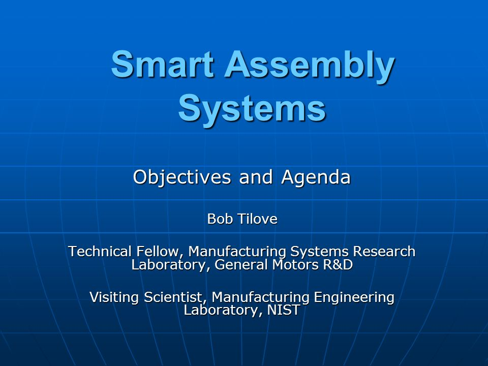 Smart Assembly Systems