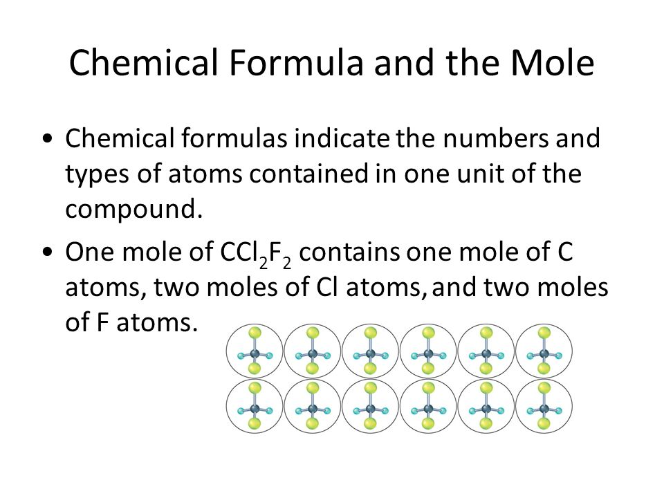 Chemical Formula and the Mole