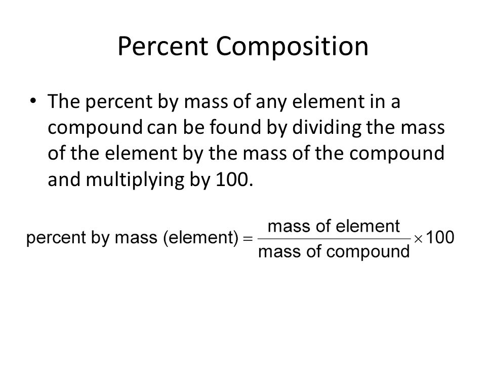 Percent Composition