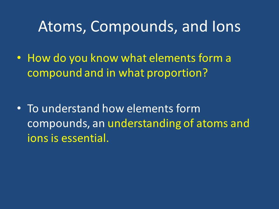 Chemical Symbols and Formulas - ppt video online download