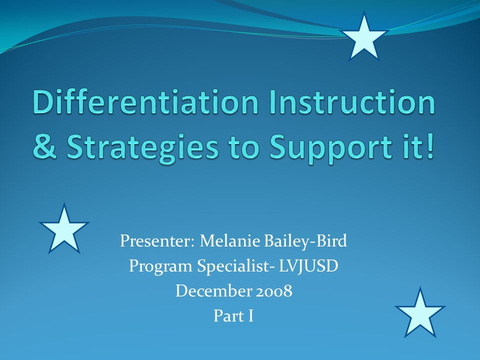 Differentiation Instruction & Strategies to Support it! - ppt video ...