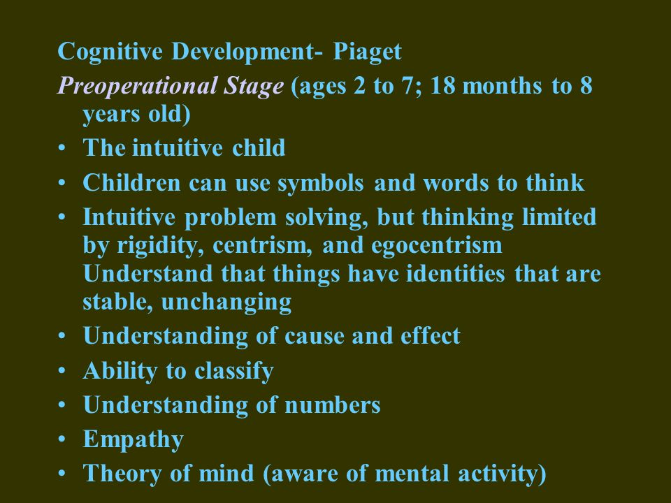 developing a theory of mind at four years Children, divided into three age groups (4-, 6-, & 8-year-olds) in competitive games with an adult designed to explore advances in children's theory of mind (tom) beyond false-belief mastery.