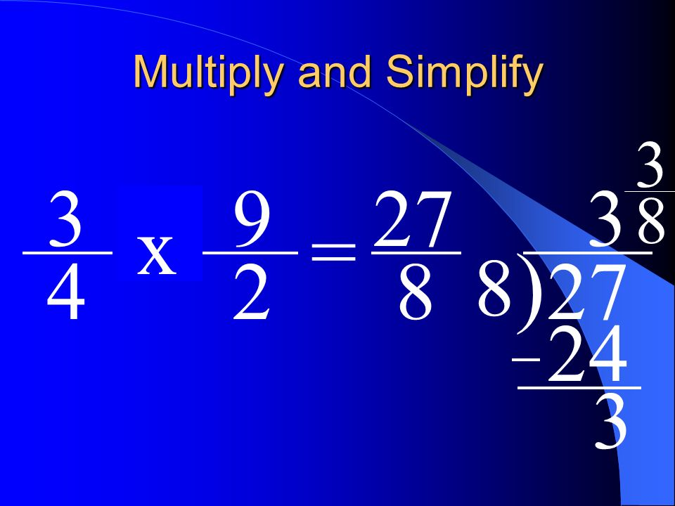 Multiplication of Fractions - ppt download