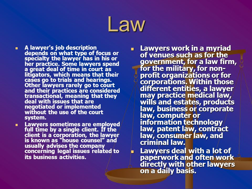 Lawyers. - ppt download