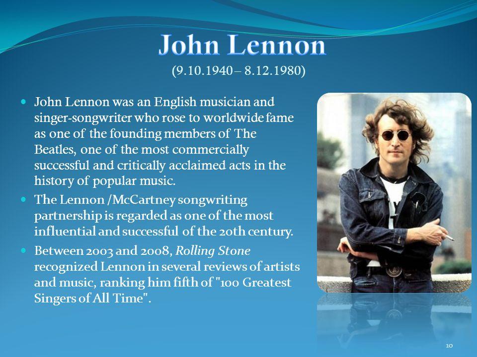 John Lennon (9.10.1940 – 8.12.1980)