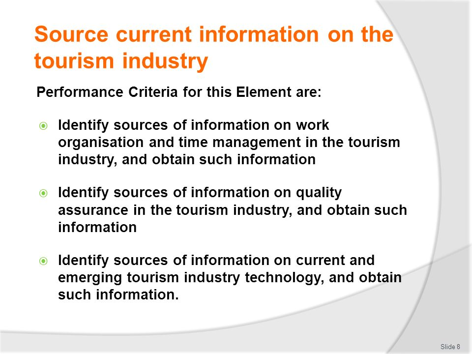 direct elements of the tourism industry Tourism glossary preliminary tourism industry: thus, the concept of tourism is of direct concern to governments.