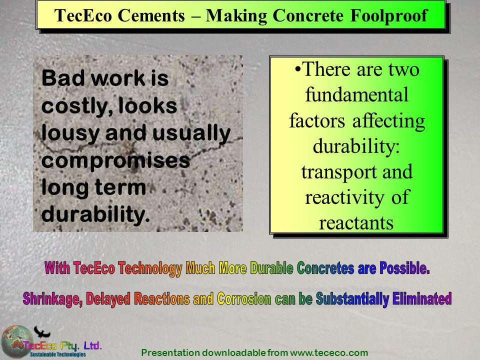 TecEco Cements – Making Concrete Foolproof