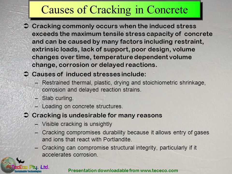 Causes of Cracking in Concrete