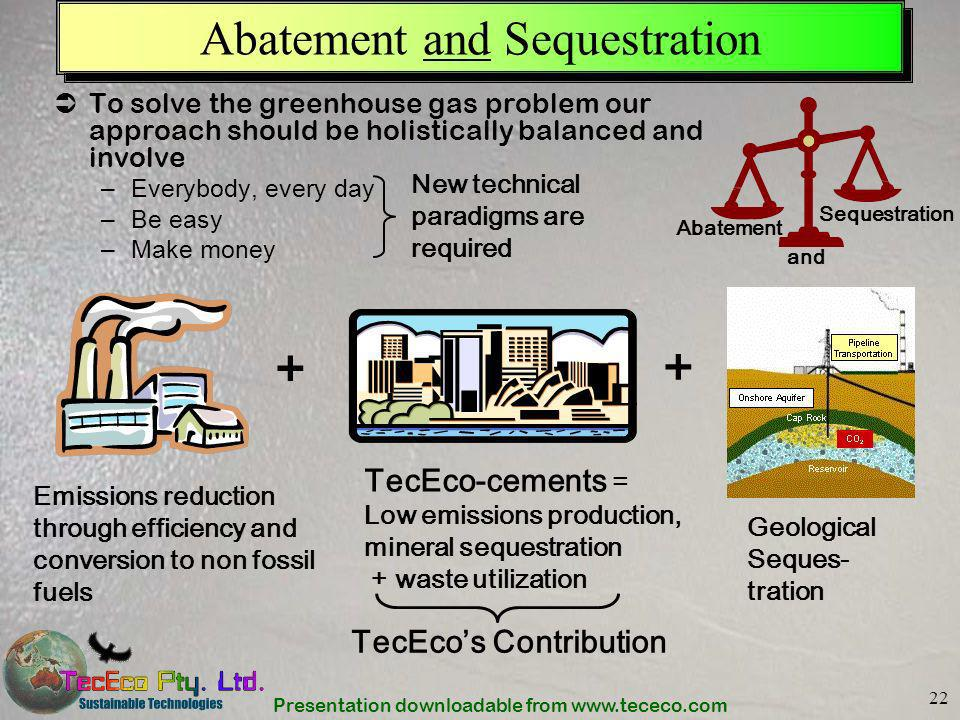 Abatement and Sequestration