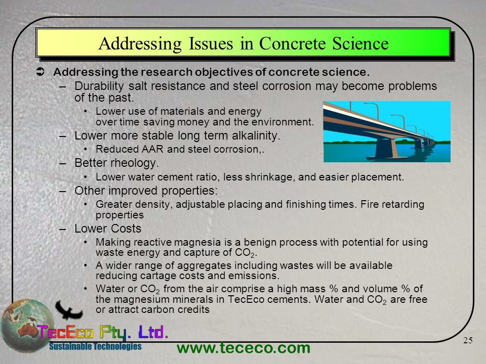 Addressing Issues in Concrete Science