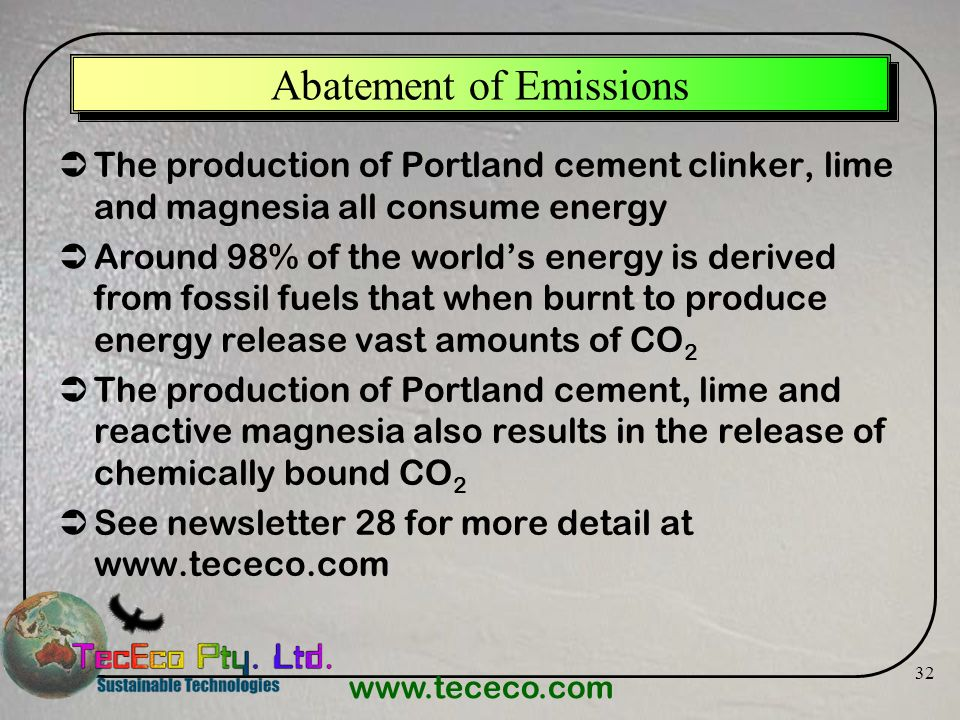 Abatement of Emissions
