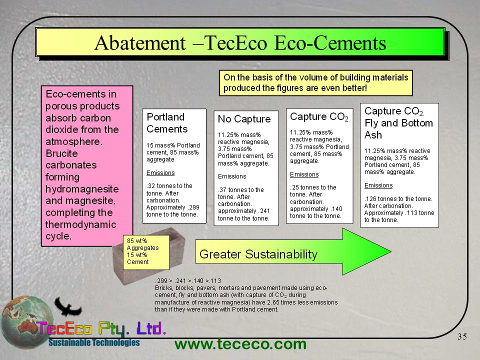 Abatement –TecEco Eco-Cements