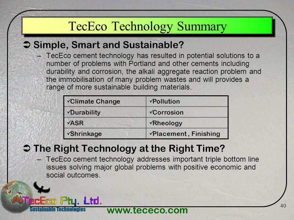 TecEco Technology Summary